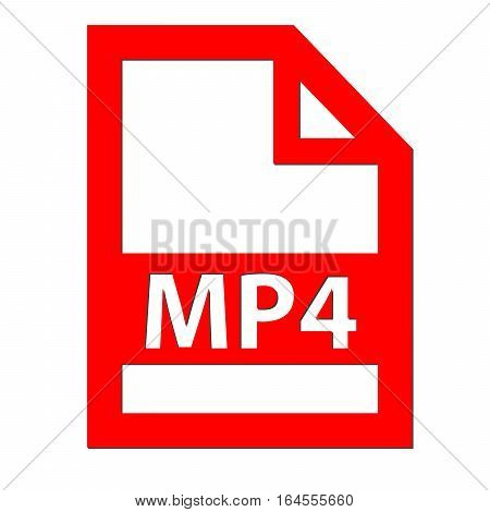 MP4 file icon with a white background