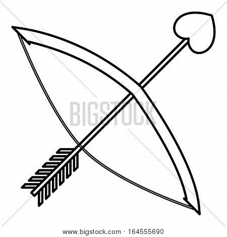 Cupids bow icon. Outline illustration of cupids bow vector icon for web