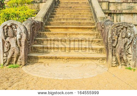 The Carved Staircase In Isurumuniya