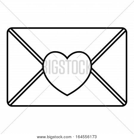 Nice love letter icon. Outline illustration of nice love letter vector icon for web
