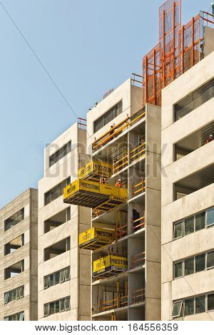 Melbourne Australia - February 2015: Construction Site in Carlton using Preston Superdeck System