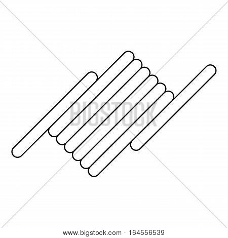 Barbed wire icon. Outline illustration of barbed wire vector icon for web