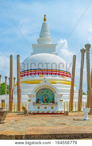 The Altar At Thuparamaya Stupa