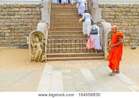 The Monk At The Stairs