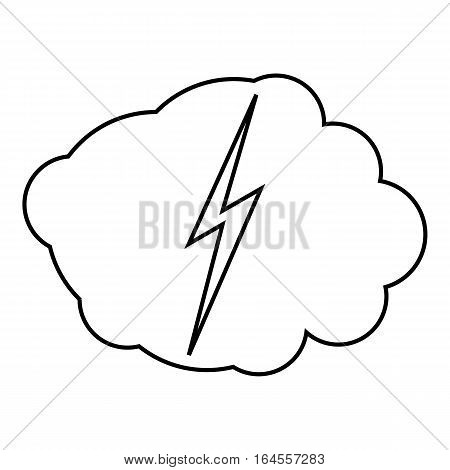 High voltage icon. Outline illustration of high voltage vector icon for web