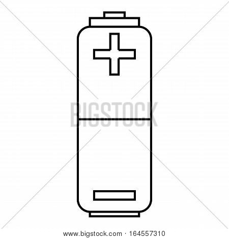 Battery icon. Outline illustration of battery vector icon for web