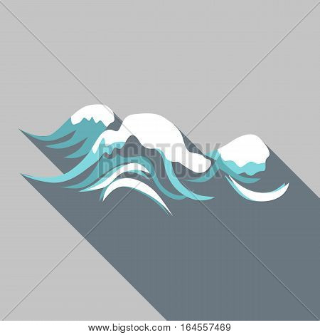 Tenth wave icon. Flat illustration of tenth wave vector icon for web