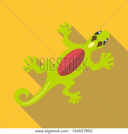 Salamander icon. Flat illustration of salamander vector icon for web
