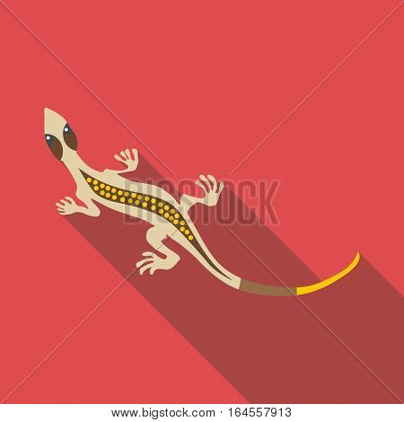 Gray lizard icon. Flat illustration of gray lizard vector icon for web