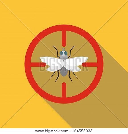 Fly icon. Flat illustration of fly vector icon for web
