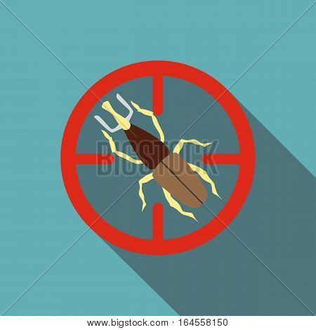 Big bug icon. Flat illustration of big bug vector icon for web