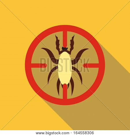 Big beetle icon. Flat illustration of big beetle vector icon for web