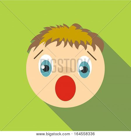 Scared icon. Flat illustration of scared vector icon for web