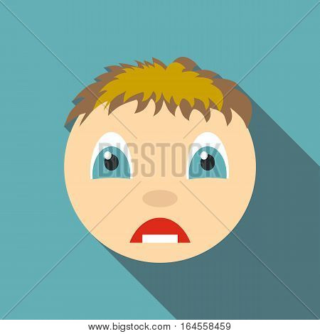 Surprised icon. Flat illustration of surprised vector icon for web