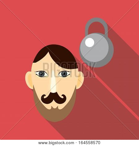 Strong icon. Flat illustration of strong vector icon for web