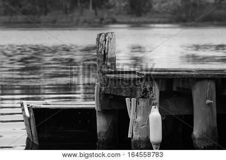 A rustic wharf at Sussex Inlet, NSW, Australia