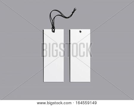 White blank label on gray floor. 3d rendering