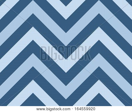 Striped, zigzagging seamless pattern. Zig-zag line texture. Stripy geometric background. Blue contrast colored. Winter theme. Vector