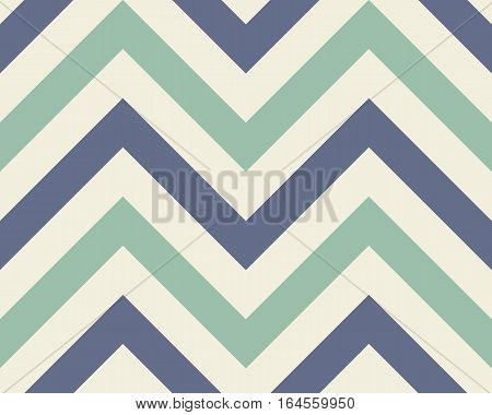 Striped, zigzagging seamless pattern. Zig-zag line texture. Stripy geometric background. Turquoise, blue, white contrast colored. Winter theme. Vector