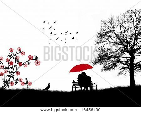 Two Lovers Vector Photo Free Trial Bigstock