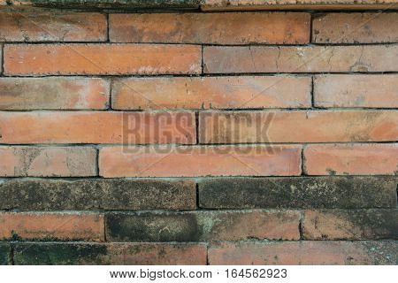 the Old brick wall for texture background