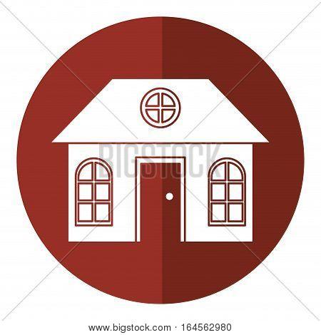 house family architectural suburban shadow vector illustration eps 10