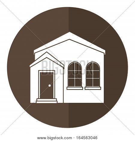 home real state expensive american modern shadow vector illustration eps 10