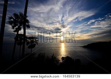 Sunset at Phromthep cape, Phuket, south of Thailand