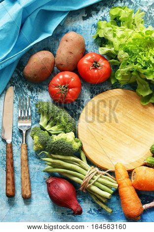 still life healthy eating - organic vegetables