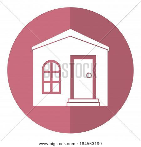 house private residence structure shadow vector illustration eps 10