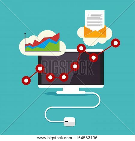 Business advertisement or business growth concept illustration.