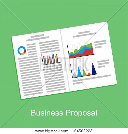 Business proposal business report or business paper concept illustration.