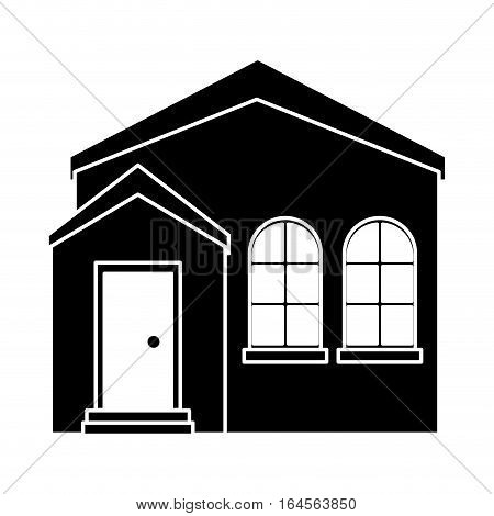 silhouette home real state expensive american modern vector illustration eps 10
