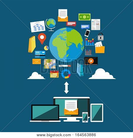 Download or upload internet contents. Surfing on internet. Multimedia contents. Internet Access