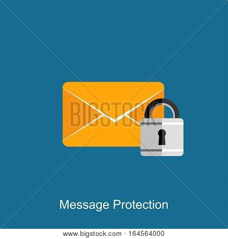 Message protection concept illustration. Message security concept
