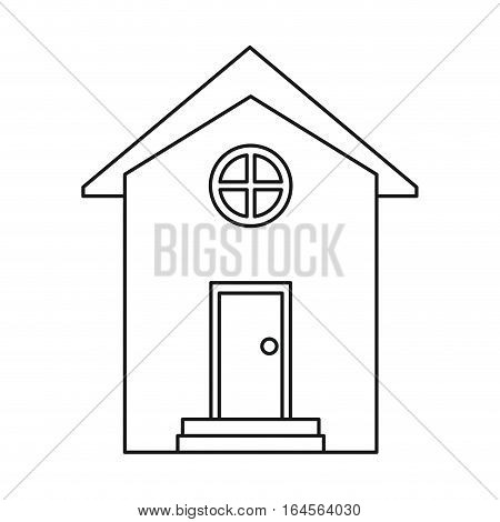 house building town residence outline vector illustration eps 10