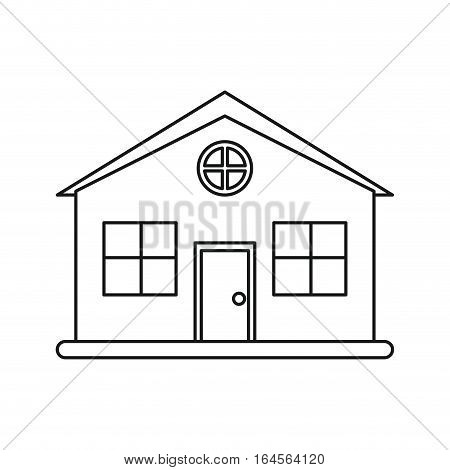family house detailed traditional outline vector illustration eps 10