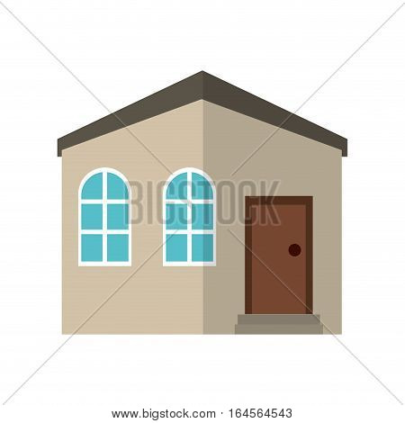 house private residence structure vector illustration eps 10