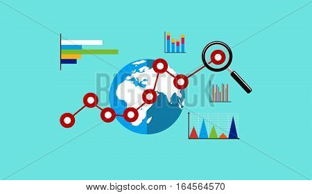 Global economy. Business growth. Business analytic. Business background.
