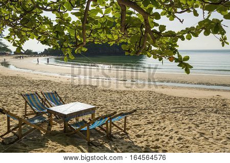 The beach Prachuap Khiri Khan Province of Thailand