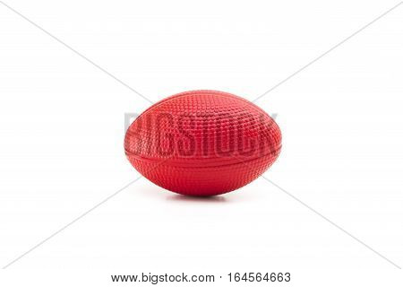 red stress ball isolated on white background