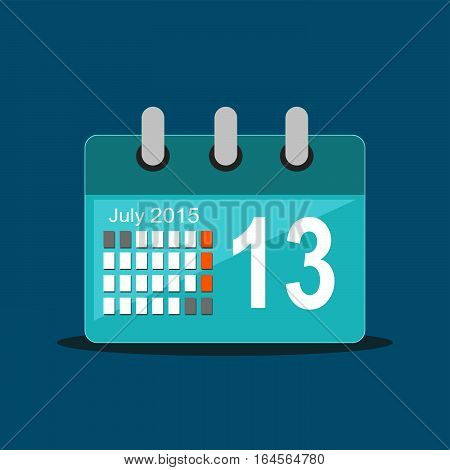 Simple icon of calendar . Flat design
