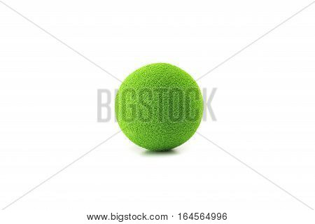green stress ball isolated on white background