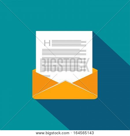 Envelope. Mail. Message. Email icon. E-mail symbol flat design