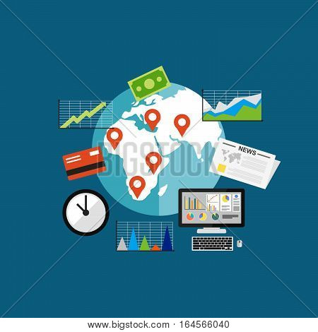 business investment , Business growth concept illustration