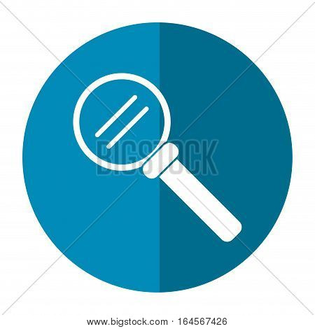 search loupe magnifier technology button shadow vector illustration eps 10