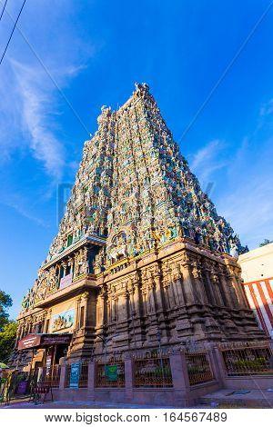 Madurai Meenakshi Amman Temple West Tower Gate V