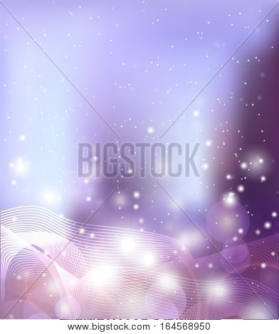 Abstract background with sparkles lines metamorphosis and blurred background. Vector background for your creativity