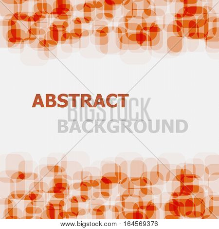 Abstract orange rounded rectangle overlapping background, stock vector