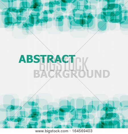 Abstract green rounded rectangle overlapping background, stock vector
